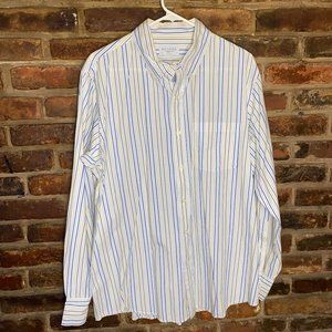 ♦Sonoma Men's Striped Button Down Shirt Size Large